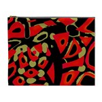 Red artistic design Cosmetic Bag (XL)