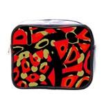 Red artistic design Mini Toiletries Bags