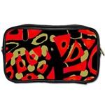 Red artistic design Toiletries Bags