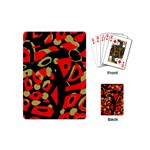 Red artistic design Playing Cards (Mini)