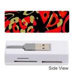 Red artistic design Memory Card Reader (Stick)
