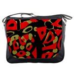 Red artistic design Messenger Bags