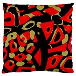 Red artistic design Large Cushion Case (Two Sides)