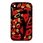 Red artistic design Apple iPhone 3G/3GS Hardshell Case (PC+Silicone)