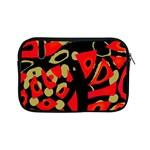 Red artistic design Apple iPad Mini Zipper Cases
