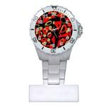 Red artistic design Plastic Nurses Watch