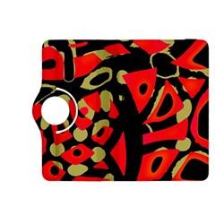 Red artistic design Kindle Fire HDX 8.9  Flip 360 Case by Valentinaart