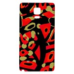 Red artistic design Galaxy Note 4 Back Case