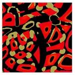 Red artistic design Large Satin Scarf (Square)