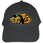 Abstract animal print Black Cap