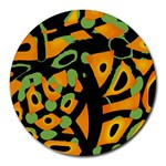 Abstract animal print Round Mousepads