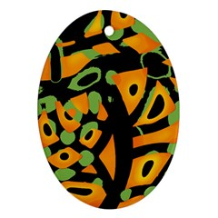Abstract Animal Print Ornament (oval)  by Valentinaart
