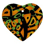 Abstract animal print Ornament (Heart)