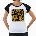 Abstract animal print Women s Cap Sleeve T