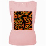 Abstract animal print Women s Pink Tank Top