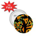 Abstract animal print 1.75  Buttons (10 pack)
