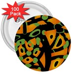 Abstract animal print 3  Buttons (100 pack)