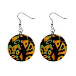 Abstract animal print Mini Button Earrings