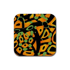 Abstract Animal Print Rubber Coaster (square)  by Valentinaart