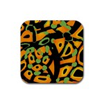 Abstract animal print Rubber Square Coaster (4 pack)