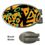 Abstract animal print Money Clips (Oval)