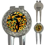 Abstract animal print 3-in-1 Golf Divots