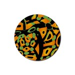 Abstract animal print Rubber Coaster (Round)