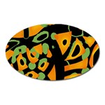 Abstract animal print Oval Magnet