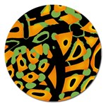 Abstract animal print Magnet 5  (Round)