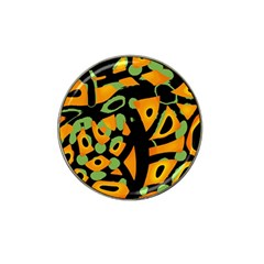 Abstract Animal Print Hat Clip Ball Marker by Valentinaart