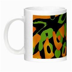 Abstract Animal Print Night Luminous Mugs by Valentinaart