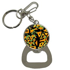 Abstract Animal Print Bottle Opener Key Chains by Valentinaart