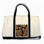 Abstract animal print Two Tone Tote Bag