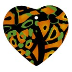 Abstract animal print Heart Ornament (2 Sides)