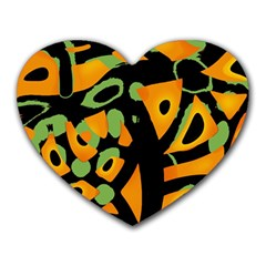 Abstract Animal Print Heart Mousepads by Valentinaart
