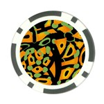 Abstract animal print Poker Chip Card Guards