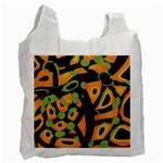 Abstract animal print Recycle Bag (Two Side)