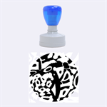 Abstract animal print Rubber Round Stamps (Medium)