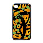 Abstract animal print Apple iPhone 4 Case (Black)