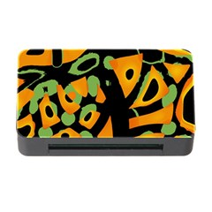 Abstract Animal Print Memory Card Reader With Cf by Valentinaart