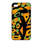 Abstract animal print Apple iPhone 4/4s Seamless Case (Black)