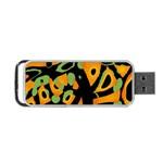 Abstract animal print Portable USB Flash (One Side)