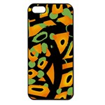 Abstract animal print Apple iPhone 5 Seamless Case (Black)