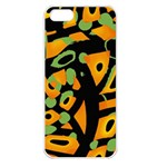 Abstract animal print Apple iPhone 5 Seamless Case (White)