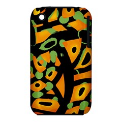 Abstract Animal Print Apple Iphone 3g/3gs Hardshell Case (pc+silicone) by Valentinaart