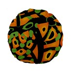 Abstract animal print Standard 15  Premium Round Cushions