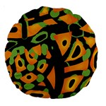 Abstract animal print Large 18  Premium Round Cushions