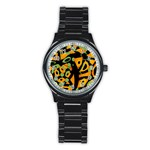 Abstract animal print Stainless Steel Round Watch