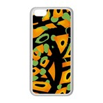 Abstract animal print Apple iPhone 5C Seamless Case (White)