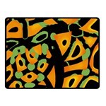 Abstract animal print Double Sided Fleece Blanket (Small)